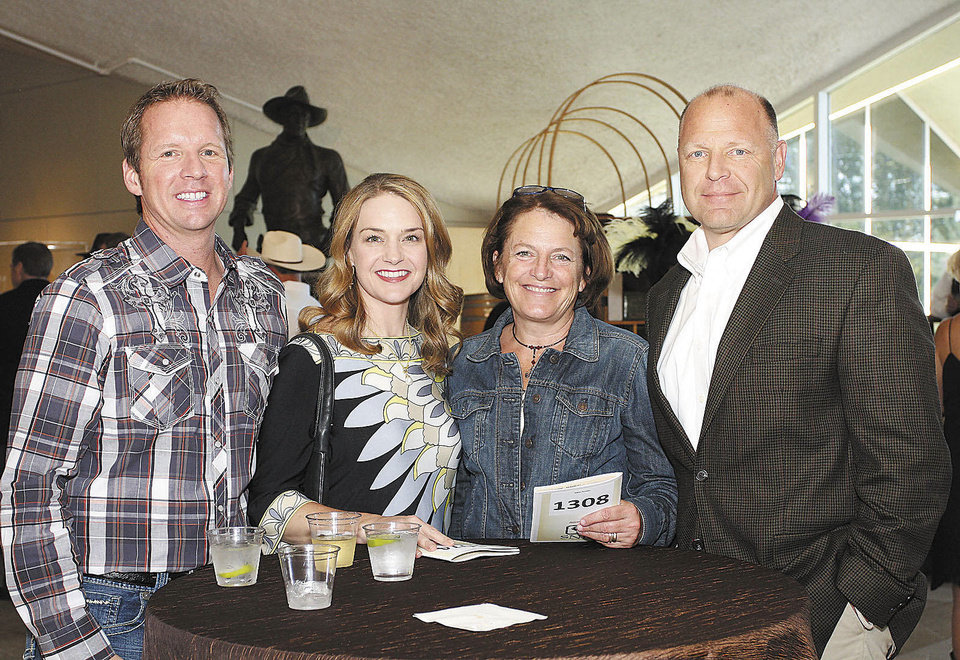 Dan and Tiffany Howard, Nancy and Bill  Haaland. Photos by David Faytinger for the Oklahoman