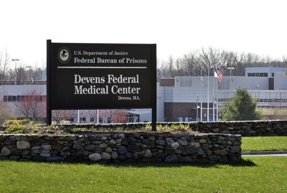 Photo - This Friday, April 26, 2013 photo shows the entrance of the Devens Federal Medical Center (FMC) in Devens, Mass.  The U.S. Marshals Service said Friday that Dzhokhar Tsarnaev, charged in the April 15, 2013 Boston Marathon bombing, had been moved from a Boston hospital to the federal medical center at Devens, about 40 miles west of the city. (AP Photo/Elise Amendola)