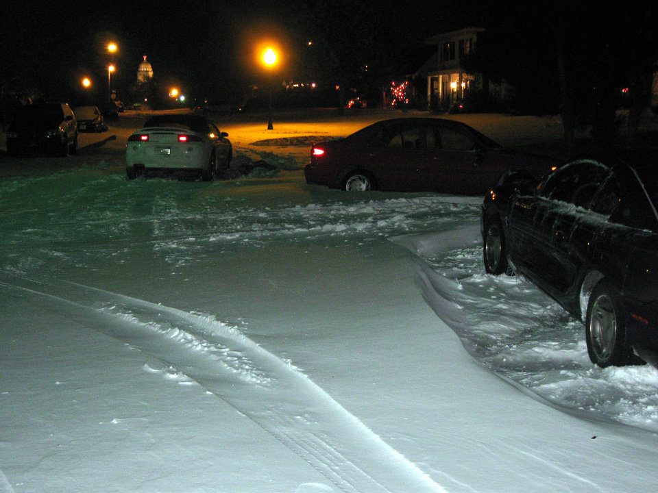 Three cars abandoned at the intersection of NW 22nd and Hudson. Submitted by Mitchell Ruzzoli.
