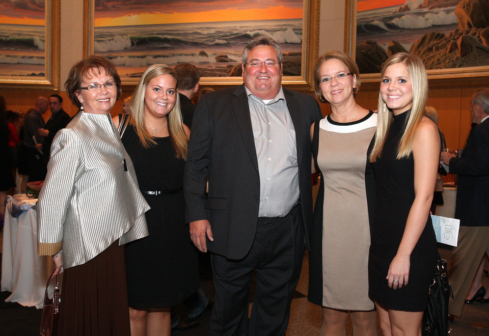 Ruth Dobbs, Briana, Stan, Charisse and Carly Potter. PHOTO BY DAVID FAYTINGER, FOR THE OKLAHOMAN <strong></strong>
