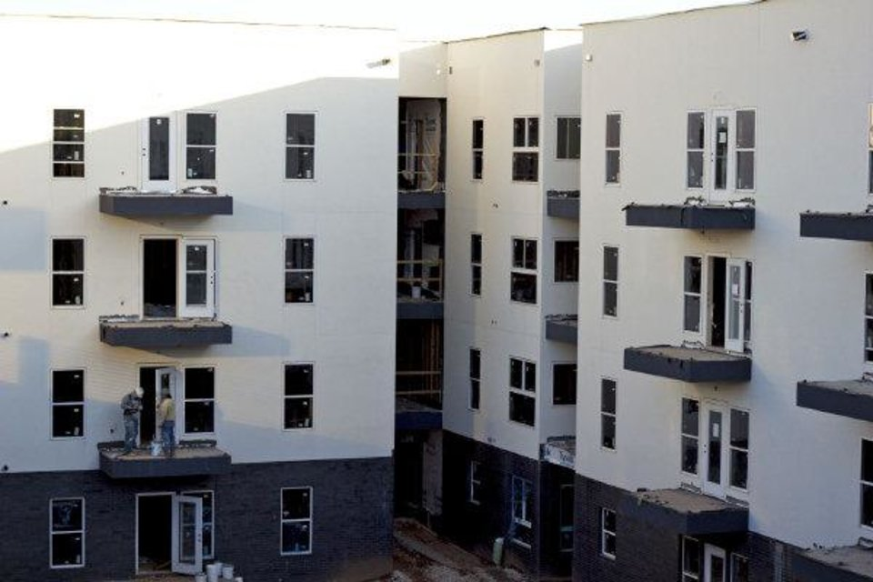 Photo - Construction continues at the Level Urban Apartments in Deep Deuce. Photo Provided