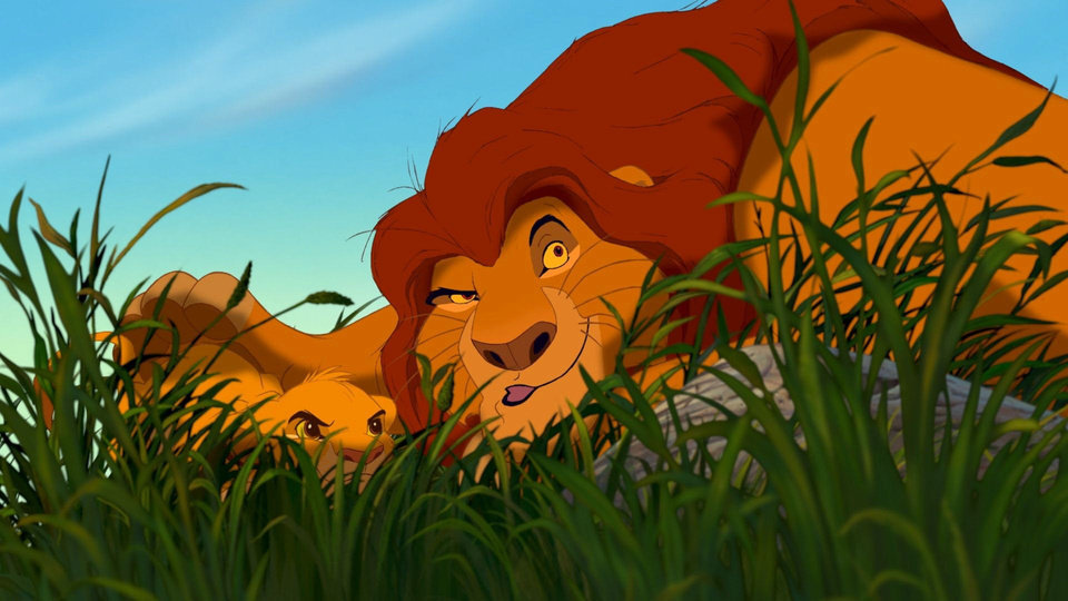 Photo -  Simba (voiced by Jonathan Taylor Thomas) and Mufasa (voiced by James Earl Jones) in