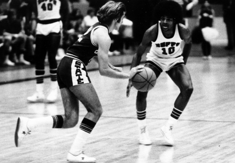 Photo -  While he wasn't busy playing for the West Texas State men's basketball team, Maurice Cheeks (10) was coaching the intramural squad from Delta Zeta Sorority. [PHOTO PROVIDED]