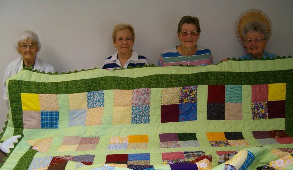 Left to right are Rossie Rowland, Dolores McLaren, Jessie Panek, and Dorothy Simons. 