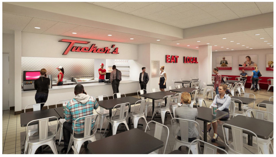 Photo -  Three restaurants, Coolgreens, Tucker's Onion Burgers and Cinnabon, will be opening at Will Rogers World Airport within the next several months, officials announced Thursday. [Rendering provided]