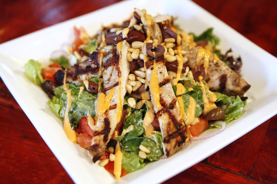 Spicy Lemon Pepper Chicken Salad at Pepperoni Grill. Photo by David McDaniel, The Oklahoman <strong>David McDaniel - The Oklahoman</strong>