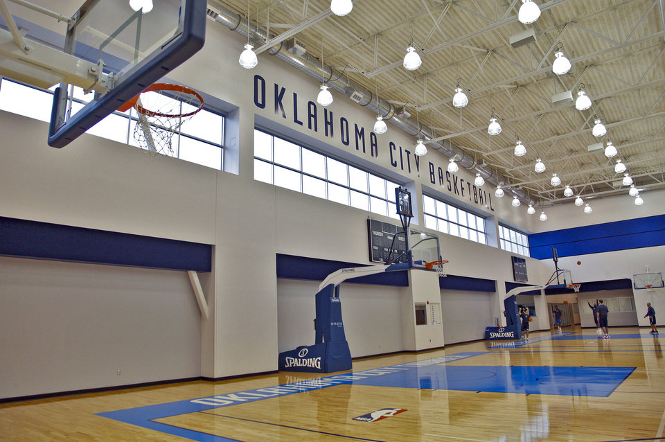 Guernsey was the designer of record for the Oklahoma City Thunder practice facility, 9600 N Oklahoma. Photo by CHRIS LANDSBERGER, The Oklahoman