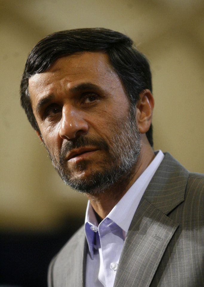 Photo - In this image issued by the semi official Iranian Students News Agency, Tuesday, June 23, 2009, Iranian President Mahmoud Ahmadinejad, speaks during a meeting with lawmakers at the presidency in Tehran, Iran, on Tuesday. (AP Photo/ISNA, Alireza Sotakbar) ** EDITORIAL USE ONLY --  EDITORS NOTE AS A RESULT OF AN OFFICIAL IRANIAN GOVERNMENT BAN ON FOREIGN  MEDIA COVERING EVENTS IN IRAN, THE AP IS OBLIGED TO USE IMAGES FROM OFFICIAL SOURCES **  ORG XMIT: XHS103