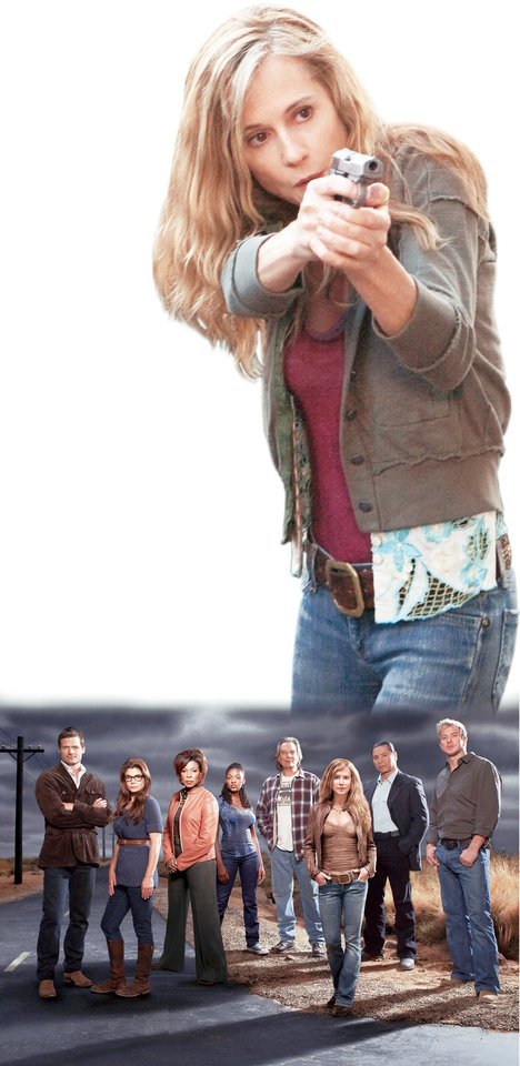 """Saving Grace"" cast members are Bailey Chase, Laura San Giacomo, Lorraine Toussaint, Yaani King, Leon Rippy, Holly Hunter, Gregory Cruz and Kenny Johnson.TNT PHOTOs"