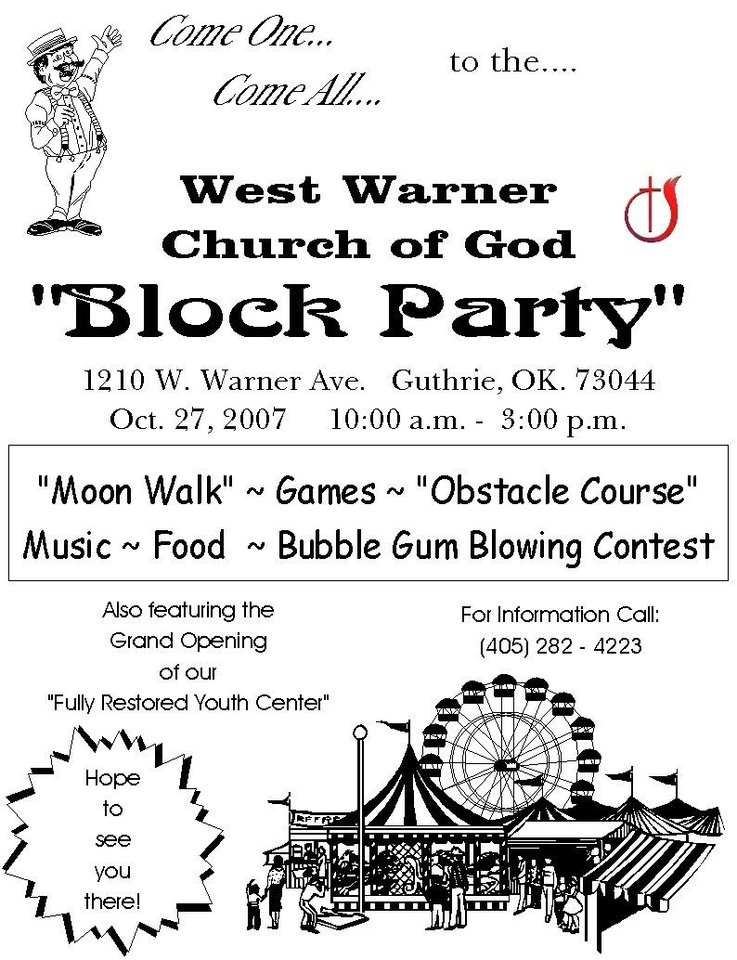 West Warner Church of God  Block Party<br/><b>Community Photo By:</b> Pastor John Lile<br/><b>Submitted By:</b> John, Guthrie