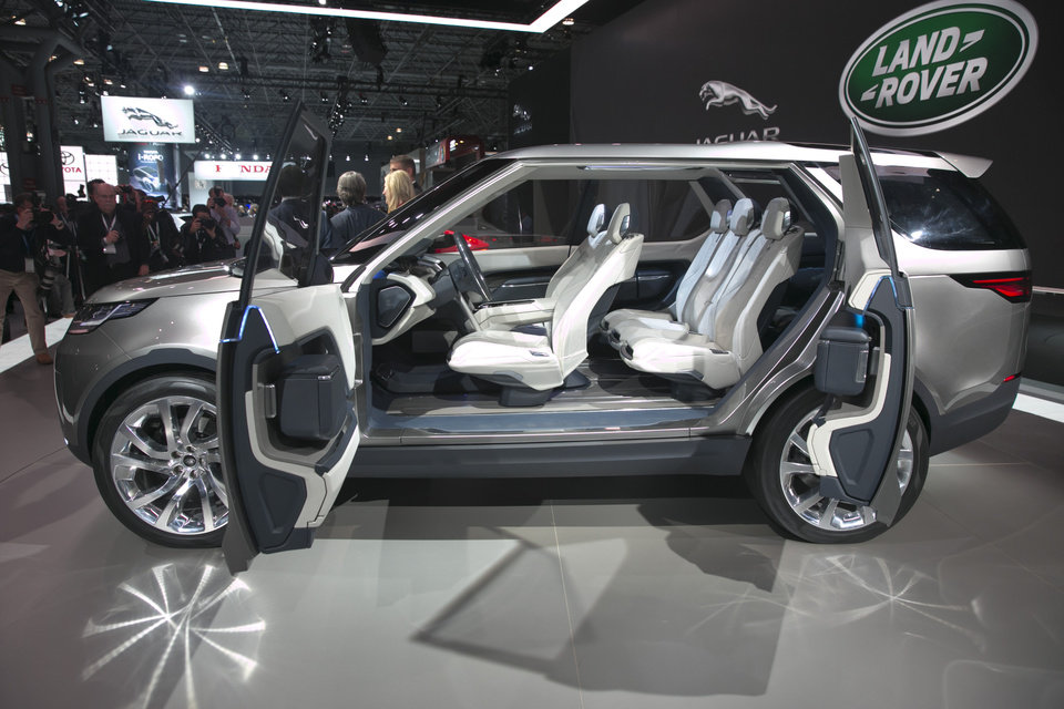 Photo - The 2015 Land Rover Discovery Vision Concept is introduced during the 2014 New York International Auto Show, at the Javits Convention Center, in New York, Wednesday, April 16, 2014. (AP Photo/Richard Drew)