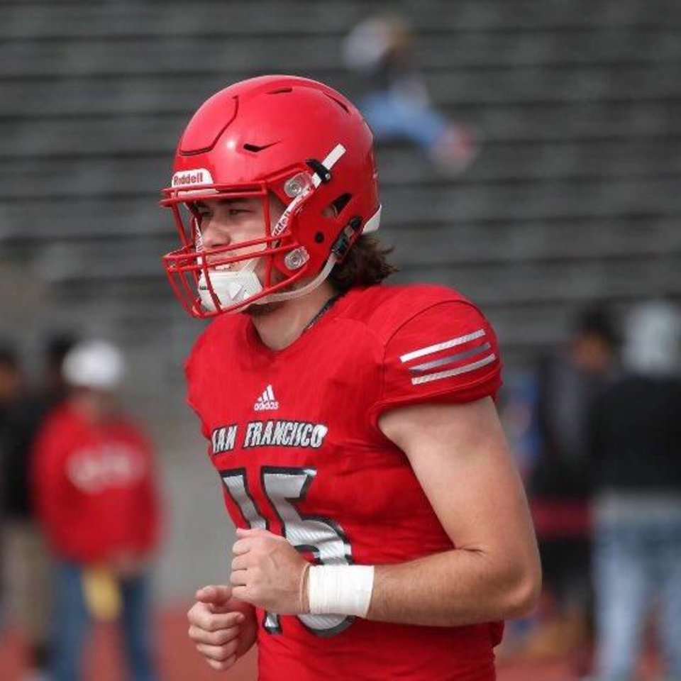 Photo - City College of San Francisco quarterback Ethan Bullock signed with Oklahoma State early Wednesday morning. [Photo provided]