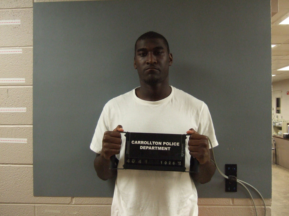 Oklahoma State receiver Justin Blackmon was arrested early Tuesday morning on a DUI complaint. PHOTO COURTESY CARROLLTON POLICE DEPARTMENT