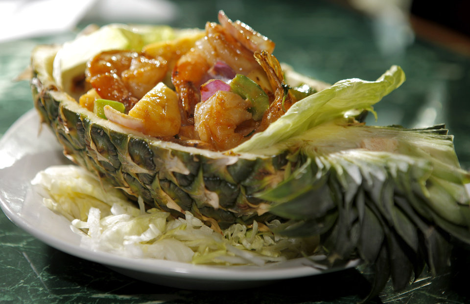 Pineapple shrimp at Banana Island, which serves Thai and Malaysian food, in Oklahoma City, Thursday, Jan. 19, 2012. Photo by Bryan Terry, The Oklahoman