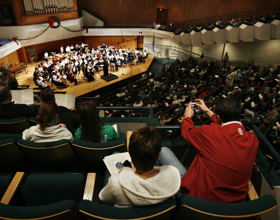 The seventh grade all-region honor band takes the stage at the Central Oklahoma Directors' Association (CODA) All Region Honor Band Concert at Catlett Music Center at the University of Oklahoma in Norman, Okla. on Saturday, January 10, 2009.   Photo by Steve Sisney/The Oklahoman
