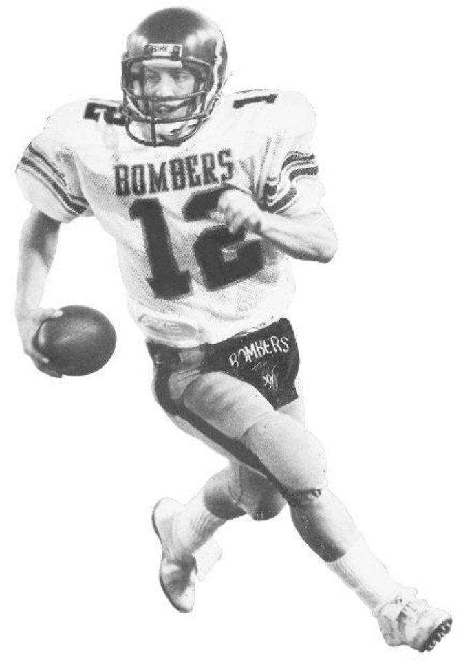 Photo - Mike Gundy, former Midwest City high school football player. (Photo originally taken 09/05/85, ran 09/09/85S and 01/05/86)