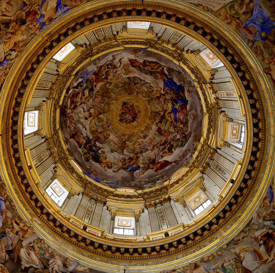 Photo - This May 2, 2014 photo shows a detail of the ornately decorated ceiling of the Royal Chapel of the Treasure of San Gennaro in the Naples Cathedral in Naples, Italy. The cathedral, which has a number of sculptures and frescoes, is free to visit and open daily. (AP Photo/Michelle Locke)