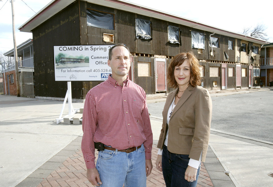 Jeff and Aimee Struble are renovating this old apartment complex at 1620 N Blackwelder in Oklahoma City, OK, into commercial office space, Thursday, Dec. 8, 2011. By Paul Hellstern, The Oklahoman