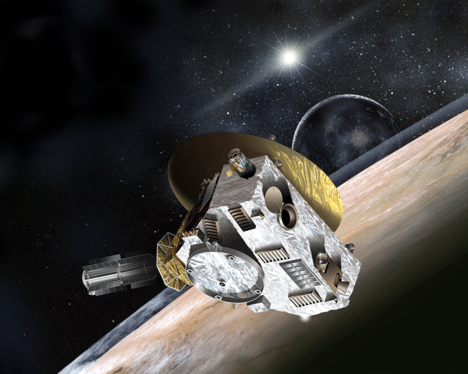Photo - Artist concept of New Horizons spacecraft. Credit: Johns Hopkins University Applied Physics Laboratory/Southwest Research Institute. Photo courtesy of NASA