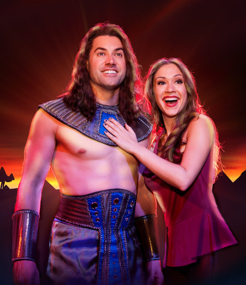 """Photo -  Ace Young as Joseph and Diana DeGarmo as The Narrator head the cast of """"Joseph and the Amazing Technicolor Dreamcoat."""" PHOTO PROVIDED"""