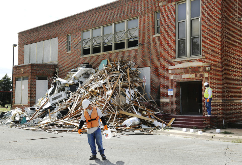 Photo -  This building, formerly home to Dunbar School, is being converted to a new development to be named Dunbar Commons, apartment-style living reserved for income-qualified tenants. [Photo by Jim Beckel, The Oklahoman]