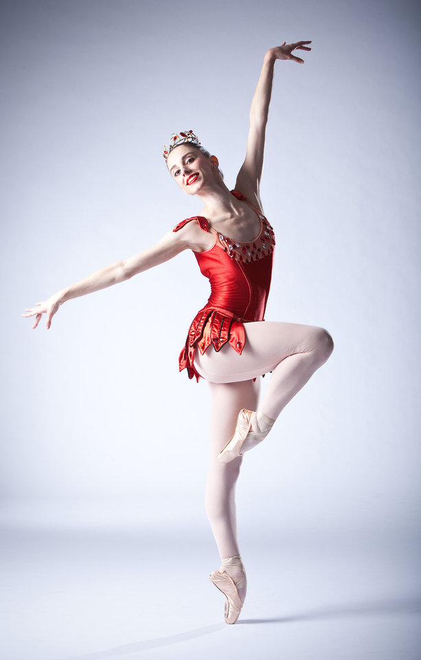 Photo - Ellany Abbott appears in costume for Oklahoma City Ballet's performance of George Balanchine's