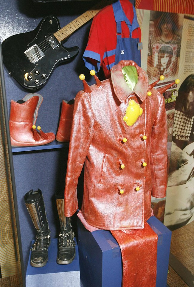 "This Flaming Lips display is part of the ""Another Hot Oklahoma Night"" rock 'n' rock exhibit at Oklahoma History Center.  Photo by PHOTO BY PAUL HELLSTERN, THE OKLAHOMAN"