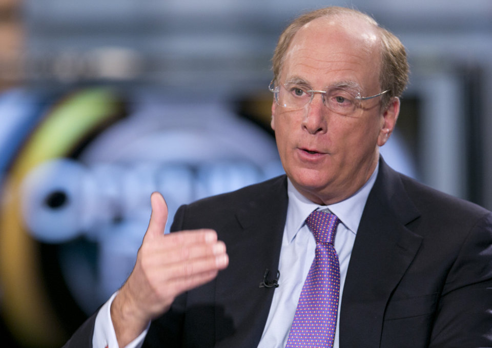 Photo - FILE - In this March 26, 2014 file photo, BlackRock Chairman and CEO Laurence Fink is interviewed by Maria Bartiromo on Fox Business Network's