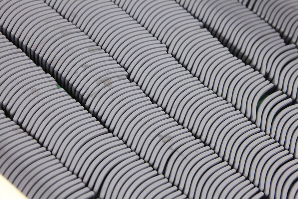 The Shawnee plant makes some 10.5 million ferrite magnets a month, representing an estimated $2 million in sales. PHOTO BY DAVID MCDANIEL <strong>David McDaniel</strong>