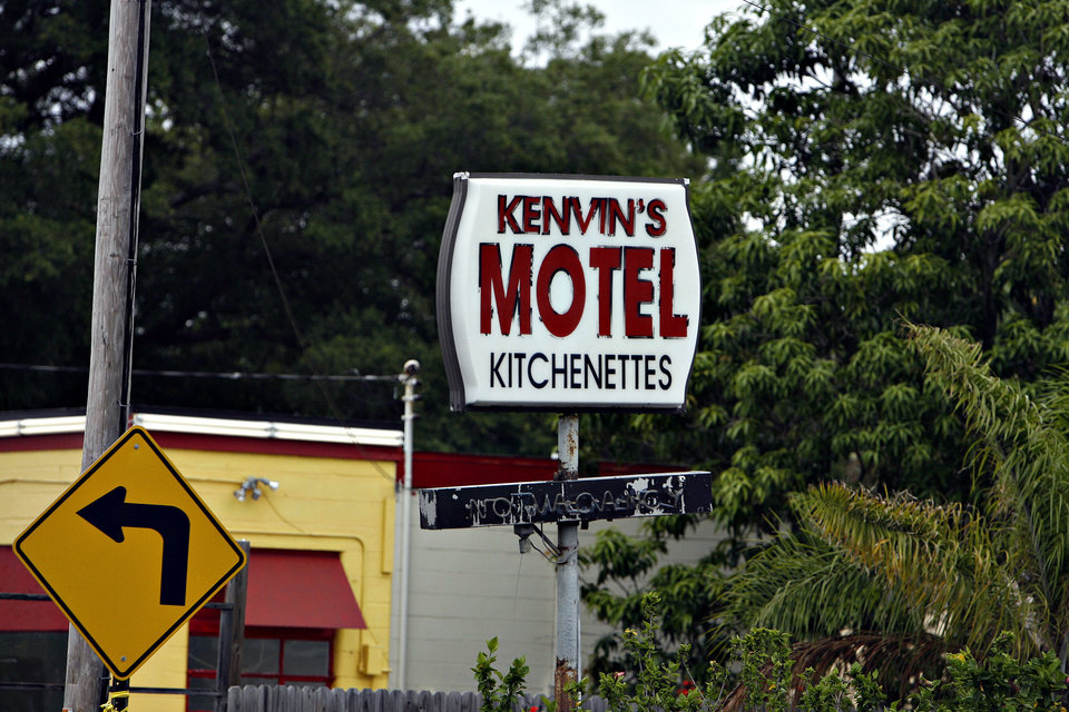 Photo -   This Friday, June 22, 2012, photo, shows Kenvin's Motel, where Anthony Giancola used a microwave to attack the married couple who own the motel in Lealman, Fla. Authorities said Giancola, an ex-Tampa Bay-area middle school principal who lost his job over a drug arrest five years ago, went on a rampage Friday, stabbing several people, killing at least two. Authorities said there were 11 victims in all, and several are being treated at area hospitals for injuries ranging from minor to life-threatening. (AP Photo/Tampa Bay Times, Melissa Lyttle) TAMPA OUT; CITRUS COUNTY OUT; PORT CHARLOTTE OUT; BROOKSVILLE HERNANDO TODAY OUT