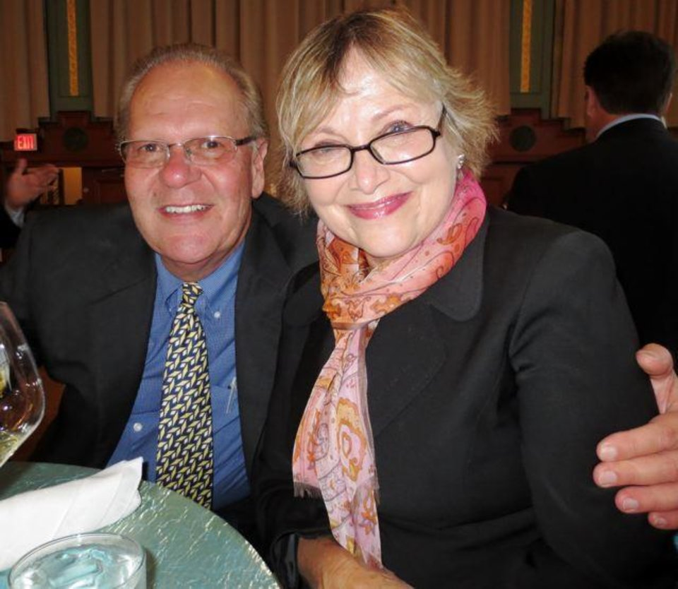 Steve Haneborg and Judy Savage. (Photo by Helen Ford Wallace).