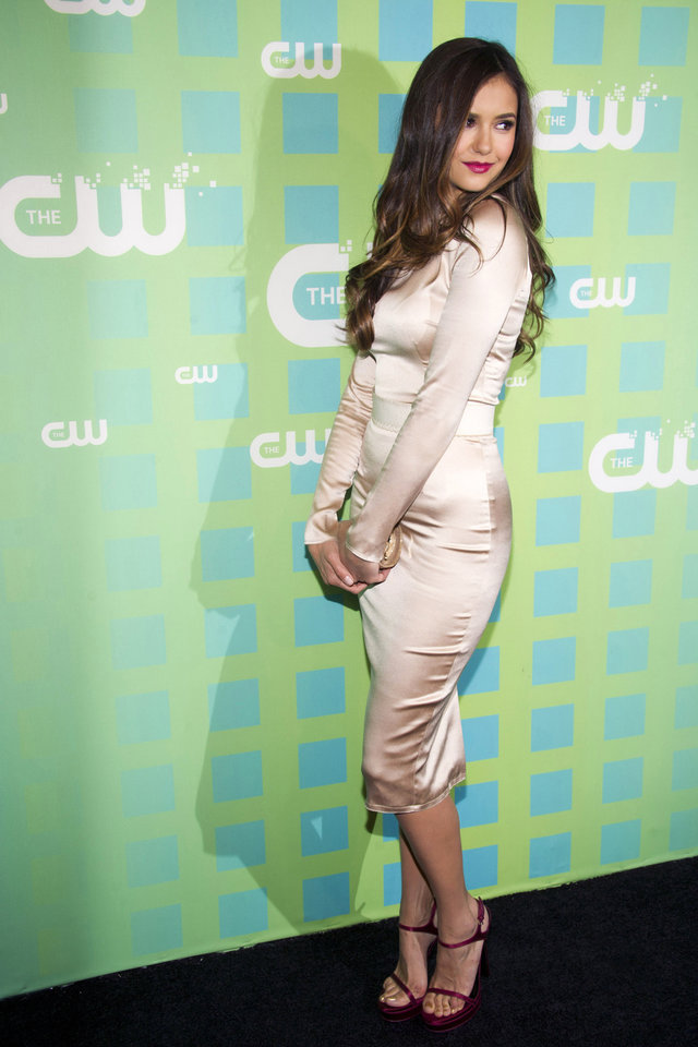 Photo -   Nina Dobrev attends The CW Television Network's Upfront 2012 in New York, Thursday, May 17, 2012. (AP Photo/Charles Sykes)