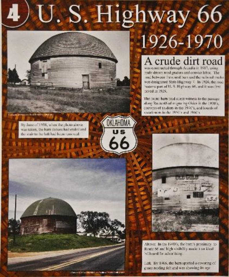 Photo - Historic Route 66 came and went but the Round Barn, erected in 1898, still stands thanks to restoration completed 20 years ago, to be celebrated this Saturday at the barn in Arcadia.  Chris Landsberger - The Oklahoman
