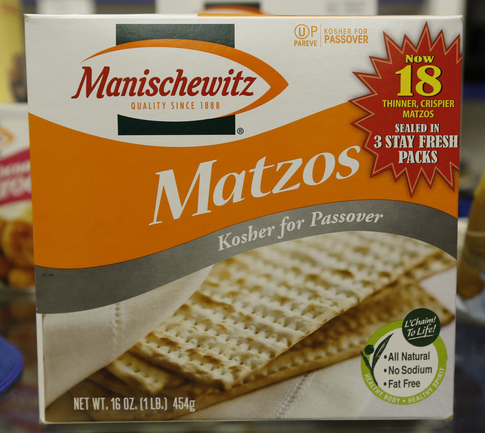 Photo -  Matzah, a food traditionally eaten during the Jewish holiday of Passover, was sent to a Jewish Marine as part of a care package created by Sherri Jackson of Norman. Photo By Steve Gooch, The Oklahoman   Steve Gooch -