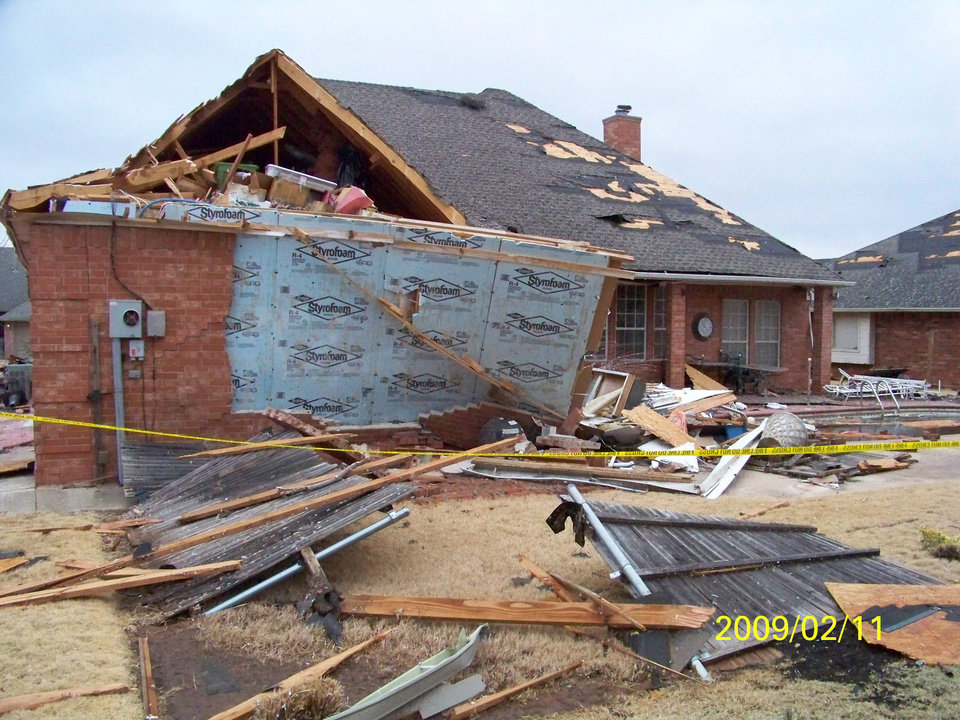 Photo - Tornado damage in Homestead edition in Edmond. Photo by William Knoles