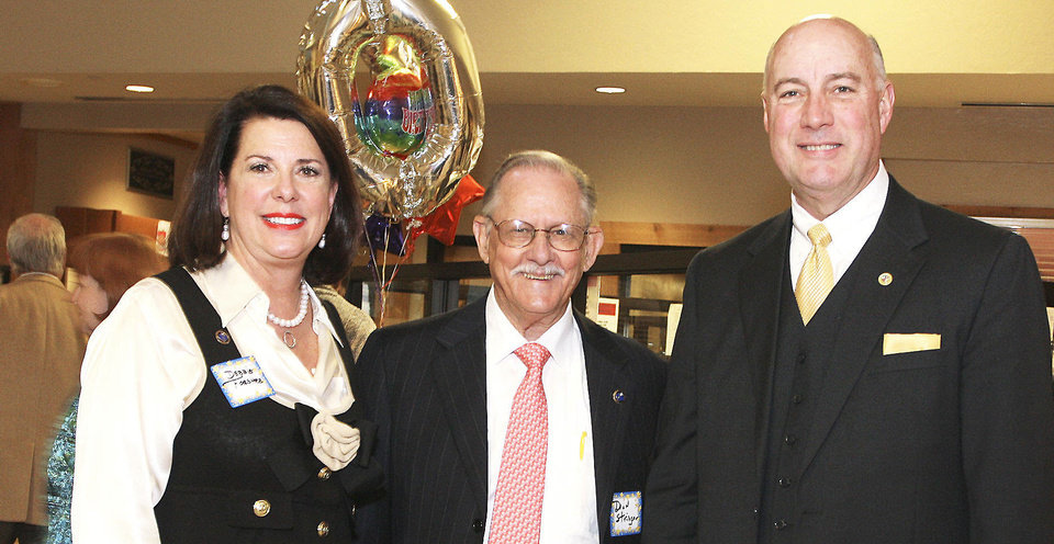 Photo - Debbie Forshee, Dean Stringer, Oklahoma County Commissioner Ray Vaughn.  PHOTO BY DAVID FAYTINGER, FOR THE OKLAHOMAN
