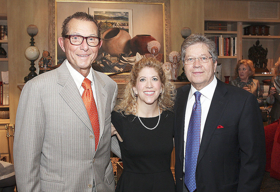 Photo - Jim Vallion, Melissa Brown, Dr. Ron White.  PHOTO BY DAVID FAYTINGER, FOR THE OKLAHOMAN