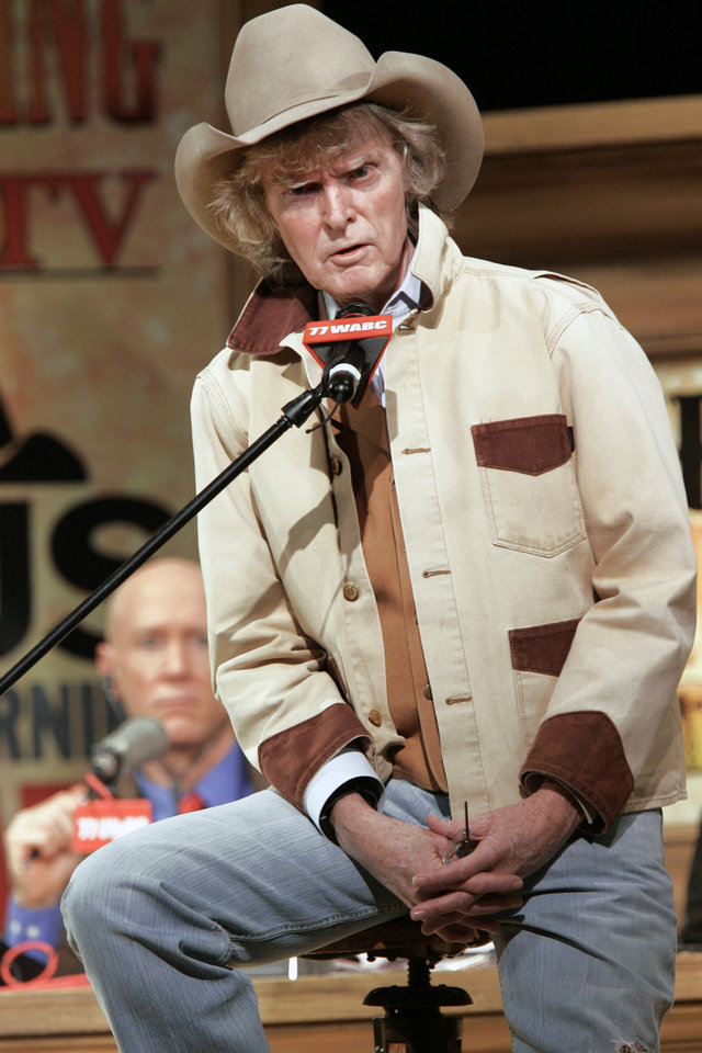 Radio personality Don Imus addresses the audience at New York's Town Hall during his return to radio in this 2007 photo. AP PHOTO
