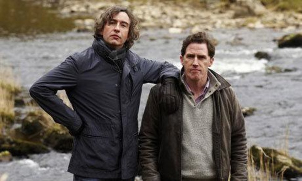 """The Trip,"" starring Rob Brydon, right, and Steve Coogan, shows Friday and Saturday night at The Foodie Film Feastival. Photo provided <strong></strong>"