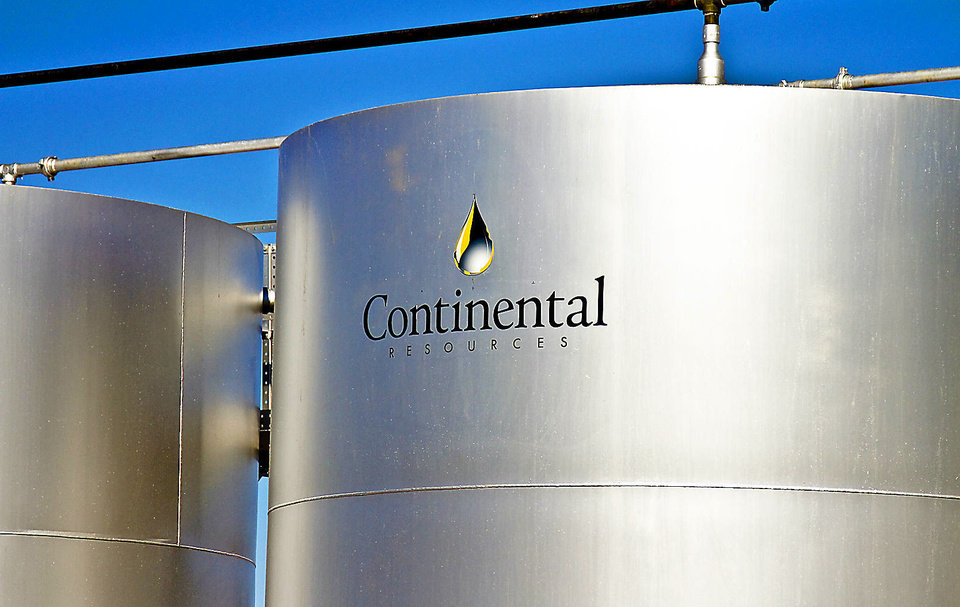 A Continental Resources oil storage tanks are shown near Chickasha. Photos by Chris Landsberger, The Oklahoman