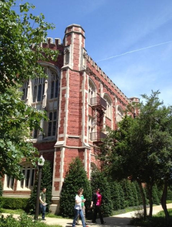 Photo - Evans Hall on the University of Oklahoma campus in Norman is seen in this photo by Steve Sisney.