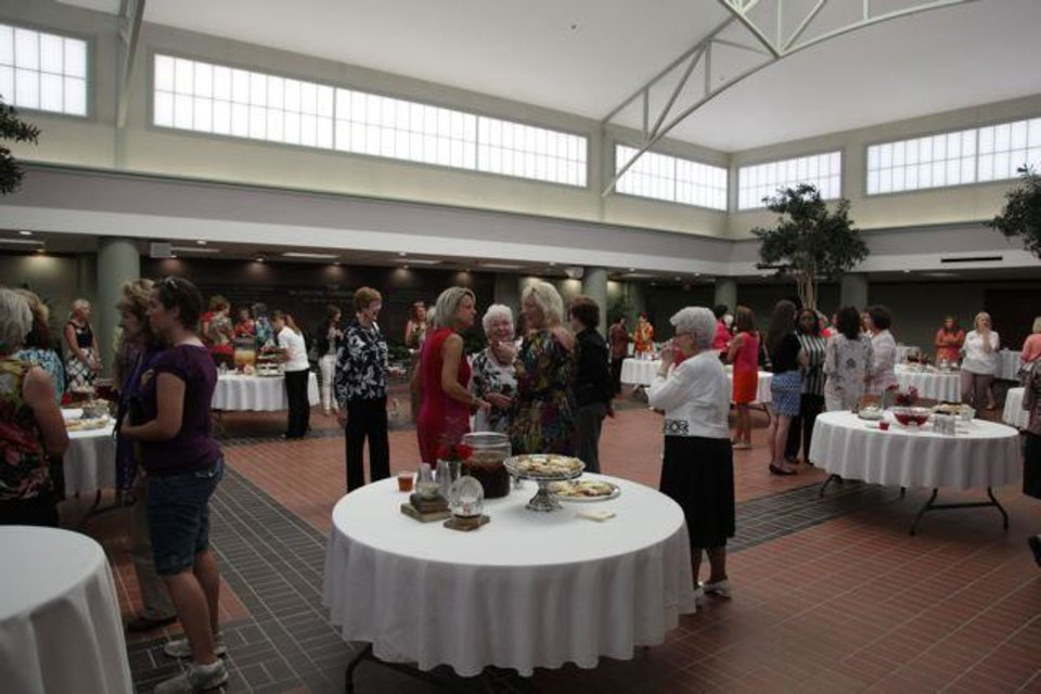 More than 100 OC students, past and present faculty women, and friends and neighbors attended Oklahoma Christian University's First Ladies Tea. (Photo provided).