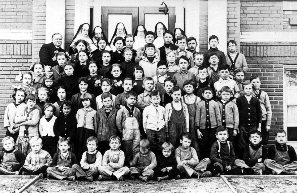 Photo - Residents of St. Joseph Children's Home pose for a picture in 1915. Photo provided