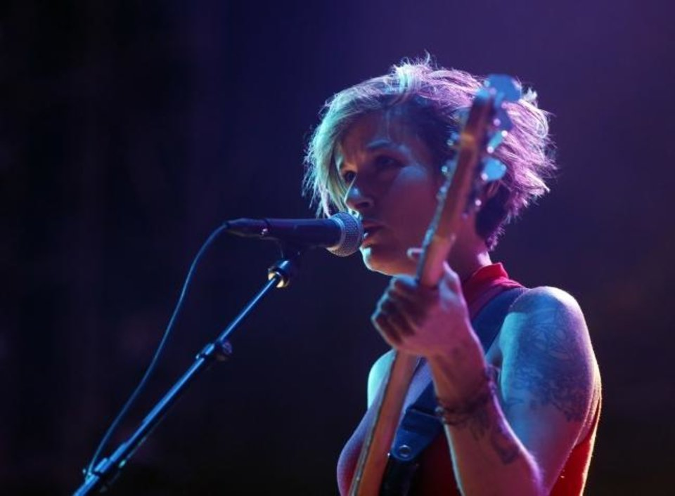 Photo -  Penny Pitchlynn, with BRONCHO, performs Friday. [Nate Billings/The Oklahoman]