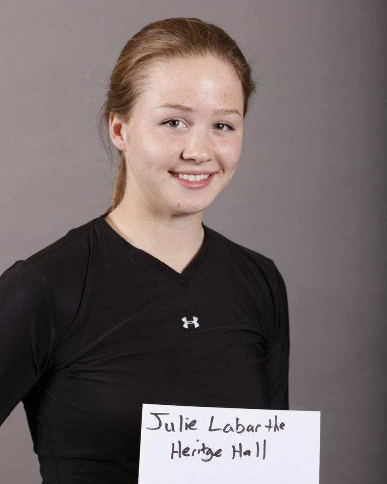 Photo - Julie Labarthe, Heritage Hall, tennis, poses for a mug at The Oklahoman's Spring high school sports photo day, Wednesday, Feb. 18, 2009, at the OPUBCO building in Oklahoma City. PHOTO BY SARAH PHIPPS, THE OKLAHOMAN ORG XMIT: KOD