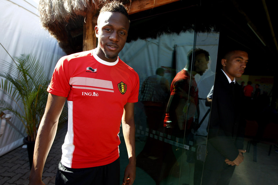 Photo - Belgium's Divock Origi arrives for a press coference, in Mogi Das Cruzes, Brazil, Friday, June 13, 2014. Belgium play in group H of the 2014 soccer World Cup. (AP Photo/Andrew Medichini)