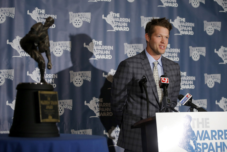 Photo - Clayton Kershaw. PHOTO BY BRYAN TERRY, THE OKLAHOMAN