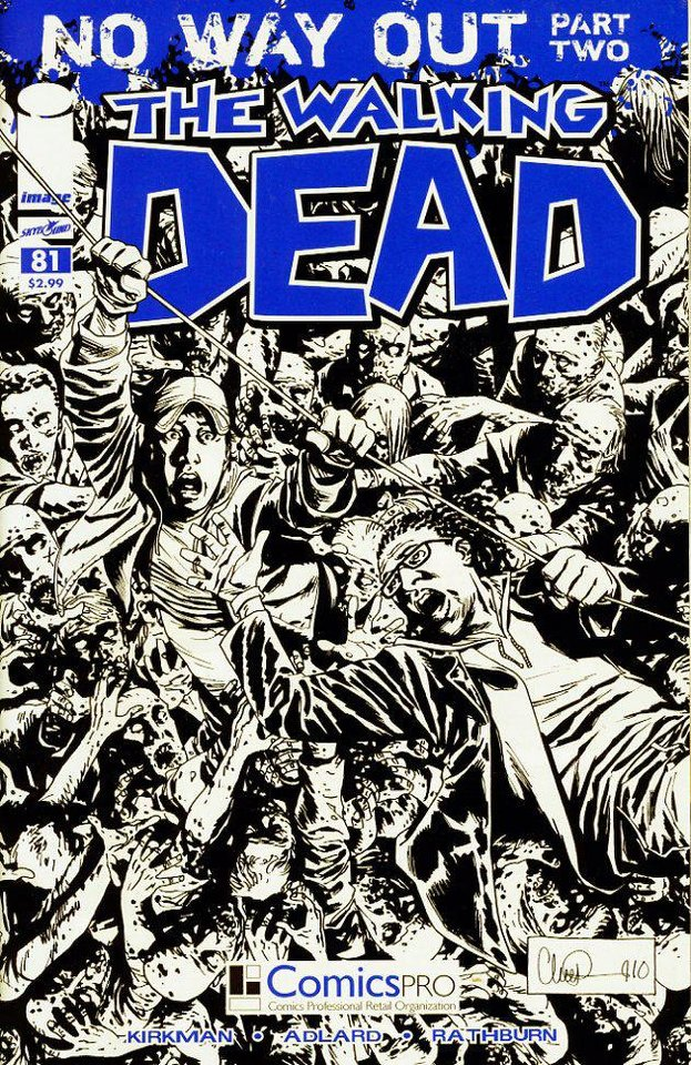 "This ""The Walking Dead"" variant cover was given out at the 2011 ComicsPRO Annual Membership Meeting.  The 2012 meeting is set for Feb. 9-11 in Dallas.  Image Comics photo <strong></strong>"