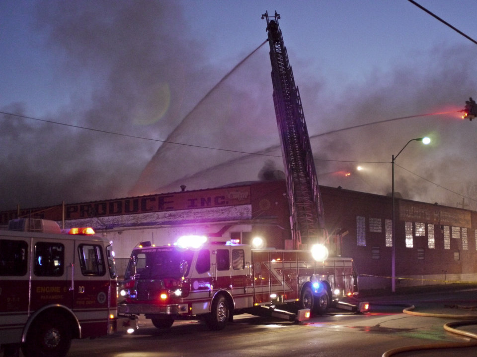 Photo - A large warehouse fire a Buddy's Produce  Adam Kemp