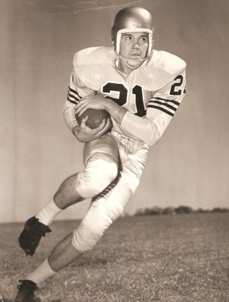 Photo -  John Prichard was a football star at Southeast High School in the 1950s before becoming a standout at Navy. He will be inducted posthumously into the Oklahoma City Public Schools Sports Hall of Fame on Tuesday. [OKLAHOMAN ARCHIVES]
